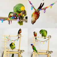 Wholesale Pet Parrot Cockatiel Parakeet Bird Chew Toys Animal Pattern Birds Bites Swing Cages Chain Toy