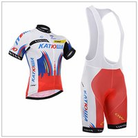 racing wear - 2015 Factory Racing Cycling Jerseys Bike Wear katusha russia short Sleeve Bike Tops Bike Bib White bib None bib Trousers Bike Shirts