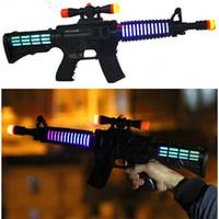 Wholesale Plastic Kids LED Flashing Projector gun Children emitting Gun Toy Black Color
