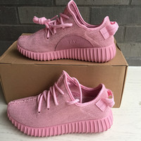 Cheap Onsale 2016 1:1 Womens Shoes Women Yeezy Boost Pink Yeezy Boots For Women Running Shoes Men Authentic Moonrock Black Sneaker Valentine Yey
