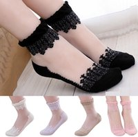 Wholesale New Socks For Women Lace Socks For Student Sweet Laciness Socks Princess Short Socks For Spring Summer Autumn CW18011