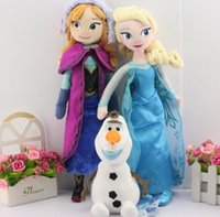 Wholesale 3pcs set CM Frozen Plush Toys olaf plush Princess Elsa plush Anna Plush Doll Brinquedos Kids