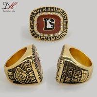 2015 nuevo deporte del anillo de oro de la AFC 1987 Tamaño Denver Broncos América del Campeonato de Fútbol del anillo Réplica 11 Ventiladores Para colecciones de joyas