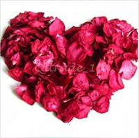 Wholesale 100set CCA3272 High Quality g Bag Bath Rose Dried Flower Skin Care Bath Real Rose Petal Wedding Decoration Rosa Bride Romantic Rose Petals
