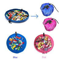 portable garage - 2015 Portable Kids Children Infant Baby Play Mat cm Storage Bags Toys Organizer Blanket Rug Boxes easy DHL