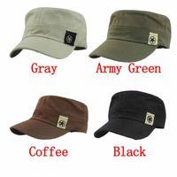 Wholesale Delicate Unisex Flat Roof Military Hat Cadet Patrol Bush Hat Baseball Field Cap Hot Selling