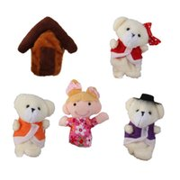 bear tales - Kids puppets toys Goldilocks the Three Bears Finger Puppet Fairy Tale Story telling set