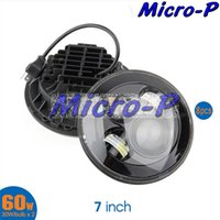 Wholesale 7 inch W W bulb Wrangler headlights high beam low beam JEEP x4 use motorcycle offroad truck SUV boat NO Angel Eyes