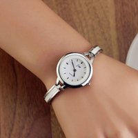 Wholesale 2015 Elegant Women Girl Bracelet Watch Quartz Office Lady Workwear Dress Wristwatch Classic Silver Gold