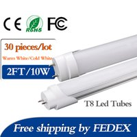 Wholesale New Arrival W m cm T8 Led Tube Light FT SMD2835 K Super Bright LED Tube Light Bulb Lamp Fluorescent Tube Fedex Ship