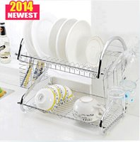 Wholesale New Arrival double dish rack creative S type metal multifunctional House dish shelf knife and fork storage