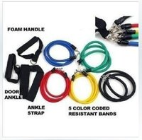 Wholesale 150sets Fitness Resistance Bands Set Resistance Latex Exercise Tubes Elastic Exercise Bands