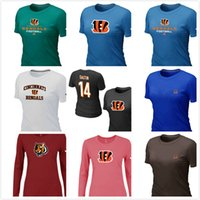 bengals sports - Bengals Chest embroidered logo women s Short Long Sleeve TShirt Andy Dalton Name Number Women s sport TShirt
