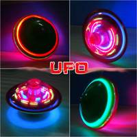 Wholesale beyblade spinning top toys musical peg top for baby novelty classic toy fusion flash led electric ufo Various angles of rotation