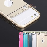 ebay - HOT ON eBay in Aluminum thin Metal Bumper Acrylic Back Cover Case Skin for Apple iPhone P4 iPhone Plus