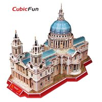 architecture church - 3D Paper Jigsaw Puzzle St Paul s Cathedral Construction Church Architecture Paper Craft DIY Puzzle Educational Toys for Kids