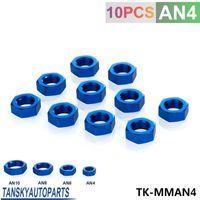 Wholesale Tansky turbo fitting AN AN4 AN Blue adapter bulkhead nut Aluminum Finish Nut Seal Lock Fitting Adapter TK MMAN4