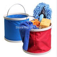 Wholesale 50PCS L Car Wash Folding Bucket Car Bucket Outdoor Portable Washing Bucket Retractable Car Wash Canvas Supplies Fishing Bucket