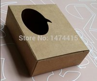 Wholesale Size cm small brown kraft paper Window boxes for jewelry gift packaging