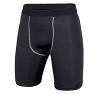 Precio de Capas base-Capa de la ropa interior de Lycra Medias de compresión Base de bici Pantalones cortos para hombres Shorts.cycling Running.box Fútbol Fútbol Basketball.501 Negro