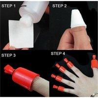 shellac nail polish - Hot Sale Nail Soakers Nail Polish Remover Soak Soakers Cap Tool Red nail polish shellac