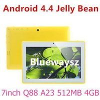 tablet jelly bean - Cheapest Tablet PC inch A23 Dual Core Q88 Q8 MID Android Jelly Bean Boxchip Allwinner A23 M G Dual Camera MAH Gift giving pc