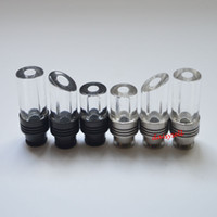 Wholesale 510 Drip tips Pyrex Glass Stainless Steel Drip tip Mouthpiece e cigarette tank drip tips for e cigs protank Aspire Atomizer
