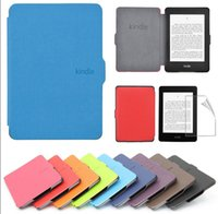 apple ebook - Ultra Slim PU Leather Smart Magnetic Ebook Cover Case Cover For Amazon Kindle Paperwhite Touch Black