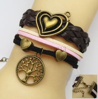 beautiful braces - DIY SD000087 European and American fashion retro multilayer Pursuit heart of hearts mini round tree beautiful looking multilayer woven brace