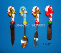 Wholesale cheese butter spreader knives set with resin handle A1542