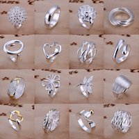 lots costume jewelry - Jewelry Mixed Silver plated Nickle Fee Fashion Trendy Jewelry Accessory costume jewelry Charming Rings For Women Mix