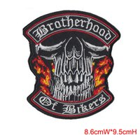 Wholesale 2016 Newest SKULLS Patches Embroidered Iron On Patch Goth punk Rockabilly keleton psychedelic can be custom patches