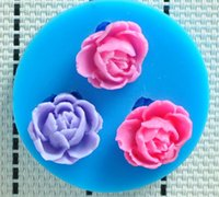 Wholesale 2014 HOT fine flower hower party fondant molds silicone mold soap candle moulds sugar craft tools chocolate moulds bakeware