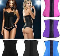 corset xs - 50pcs Women s Waist Training Belt Underust Waist Cincher Rubber corset Latex Bustier Body Shaper XS XL Colors