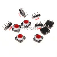 Cheap 20Pcs 12 X 12mm Red Tactile Push Button Switch Momentary 4pin+LED Safety order<$18no track