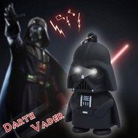 Wholesale Hot Star Wars Darth Vader Yoda Keychain Accessories LED Luminous keychain Creative Chain Key Pendant