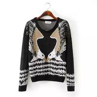 az standards - Az And The Wind Eagle Pattern Geometry Turtleneck Sweater FG1511
