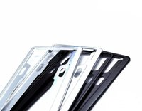 aluminum framework - Aluminium Alloy Frame Plate Car Number License Plate Frame Holder framework pair