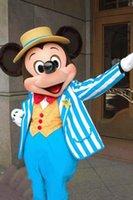Alta calidad azul Mickey mascota del ratón del traje traje de la mascota de Mickey