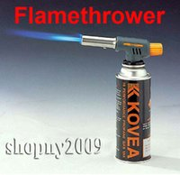 Wholesale Outdoor Gas Torch BBQ Butane Burner Auto Ignition Camping Welding Flamethrower