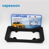 Wholesale License Frame Bumper Guard protector for license plate holder Black EVA Material For Car Accessories Plate Frame