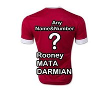 Wholesale Top Thai quality Man Home Red Jersey Fan version Soccer Jersey UNITED Shirt Drop shipping