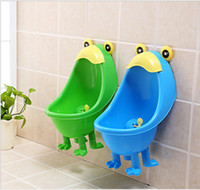 Wholesale Training baby infant potty urinary children frog wall mounted in urinal bucket toilet Stand urinary for boys