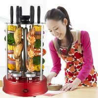 Wholesale 2014New products Vertical automatic rotating vertical electric barbecue grill skewer smokeless BBQ kebab shawarma machine
