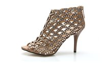 leather pumps - 2015 Cinderella Diamond high heeled Size crystal Shoes Genuine leather sexy Women pumps Summer style Sandals