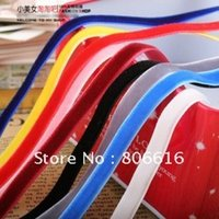 Wholesale 1CM Yard Colorful Velvet Ribbon Riband Webbing Blet Lace Jewelry DIY Accessory