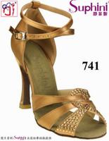 Wholesale Woman cm Heel Latin Dance Shoes Satin Zapatos de Baile Latino original Dear Girl DG Brand design high quality