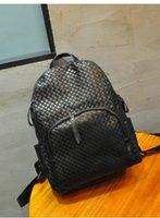 backpack knitting pattern - New Real Leather Lozenge Knitting Pattern Fashion Women Black Backpack Travel Bag For Women Feminina Mochila e