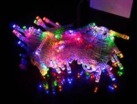 Wholesale 10M LED String Lights Xmas Christmas Decoration Wedding Party Decor Lamp Colorful V EU TK0200