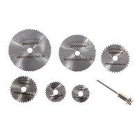 Wholesale PC Dremel Cutoff Circular Saw HSS Rotary Blade Tool Cutting Discs Mandrel K5BO